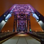 AES Lights Up Big Four Bridge Over Ohio River